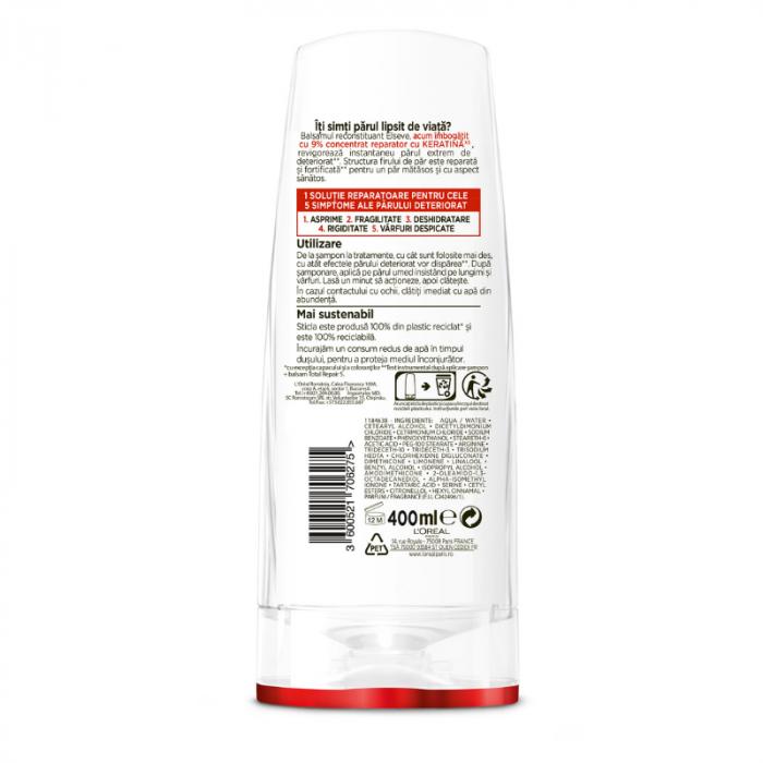 Balsam pentru par deteriorat, Elseve Total Repair 5 - 400 ml 2