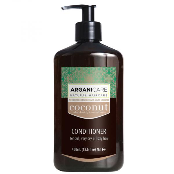 Balsam pentru par fara stralucire ultra-hranitor cu ulei de cocos Arganicare, foarte uscat si frizzy 400 ml 0
