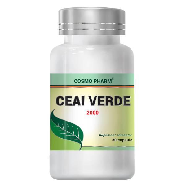 Ceai Verde 2000, Cosmo Pharm, 30 capsule 0