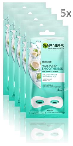 Set 5x Masca de ochi Garnier Moisture+ cu apa de cocos [0]