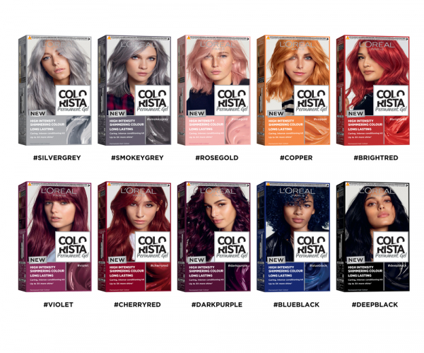 Colorista Vopsea gel permanenta 204 ml, nuanta ROSE GOLD 7