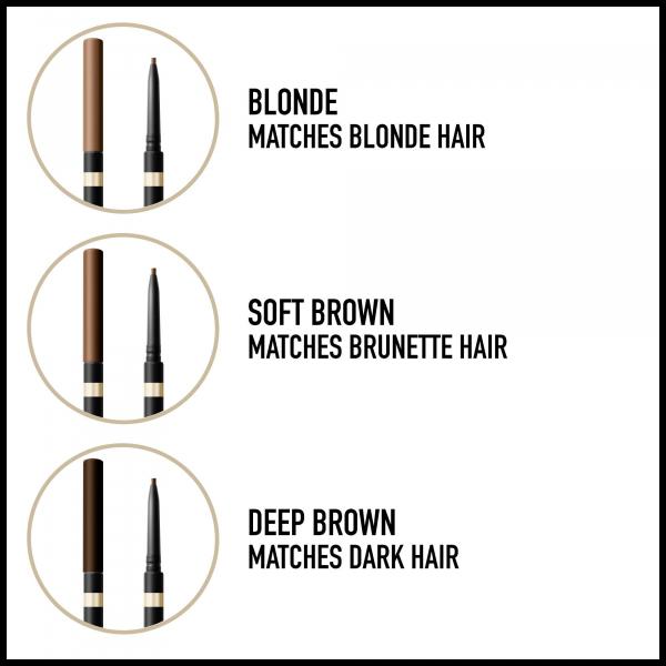 Contur sprancene Max Factor Brow Shaper, 10 Blonde, 1 g 3