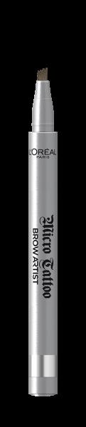 Creion de sprancene cu varf tip carioca L`Oreal Paris Brow Artist Micro Tattoo 108  Warm Brunette [3]