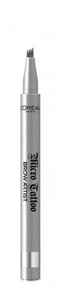 Creion de sprancene cu varf tip carioca L`Oreal Paris Brow Artist Micro Tattoo 108  Warm Brunette 1