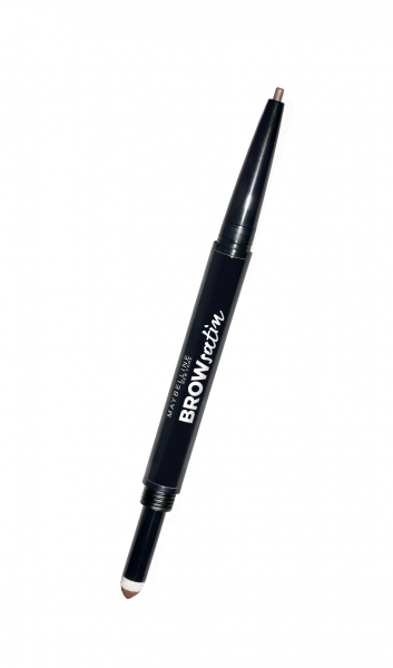 Creion mecanic de sprancene Maybelline Brow Satin Duo, 02 MEDIUM BROW 0