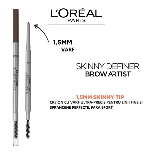 Creion pentru definirea sprancenelor L`Oreal Paris Skinny Definer 105 Brunette [4]