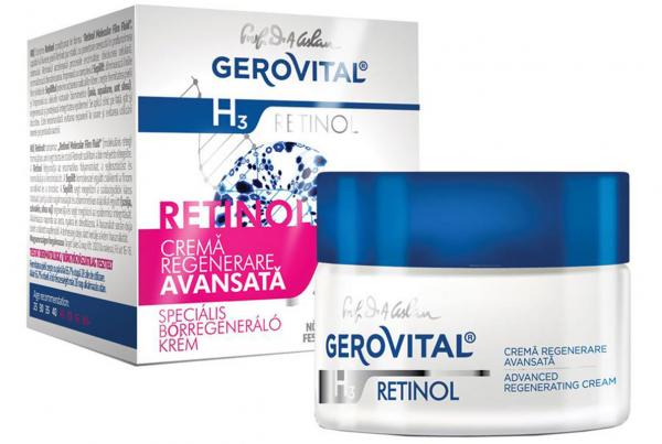 Crema Gerovital H3 Retinol regenerare avansata, 50 ml [0]