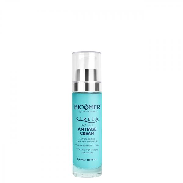 Crema anti aging cu celule stem din Centella Asiatica si Vitamina E Sireia Bio Mer 50 ml 0