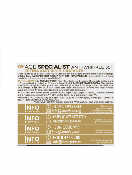 Crema antirid de noapte L'Oreal Paris Age Specialist 35+, 50ml [4]