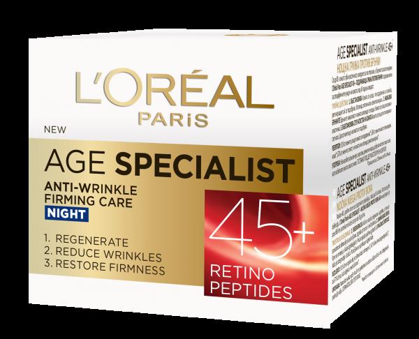 Crema antirid de noapte L'Oreal Paris Age Specialist 45+ , 50 ml [0]