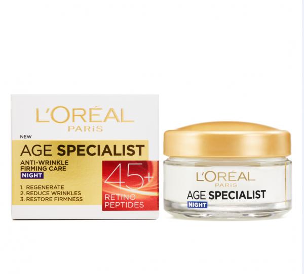 Crema antirid de noapte L'Oreal Paris Age Specialist 45+ , 50 ml [1]