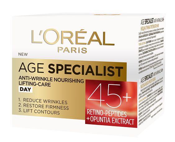 Pachet 2x Crema antirid de zi L'Oreal Paris Age Specialist 45+,50 ml 2