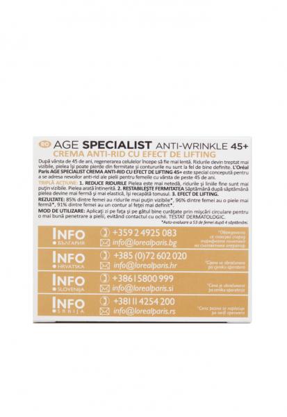 Crema antirid de zi L'Oreal Paris Age Specialist 45+,50 ml [3]