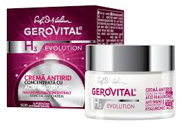 Crema antirid Gerovital H3 Evolution cu acid hialuronic concentratie 3%, 50 ml 0