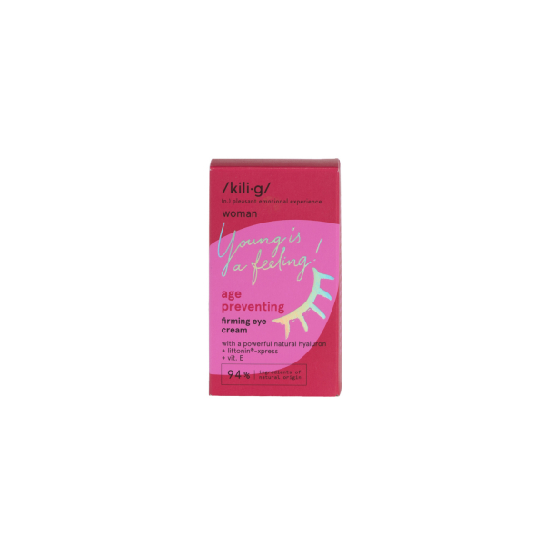Crema contur de ochi antirid si fermitate KILIG WOMAN 15 ml 2