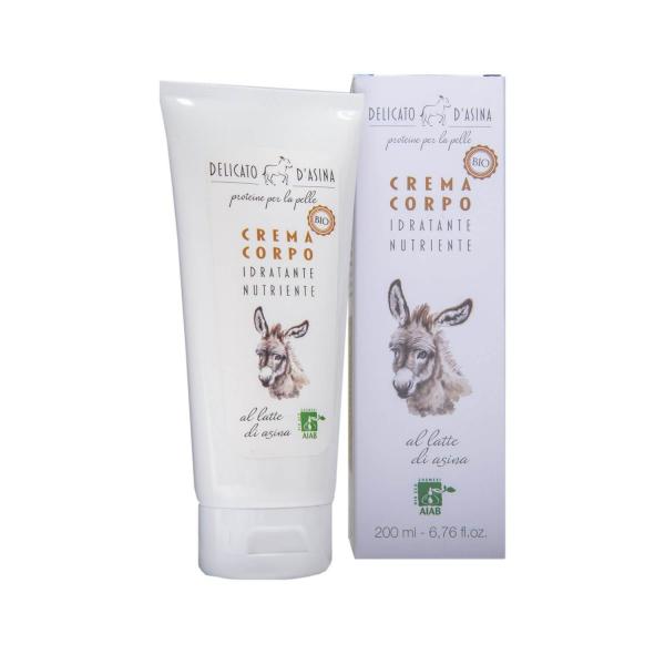 Crema de corp cu lapte de magarita BIO La Dispensa 200 ml [1]