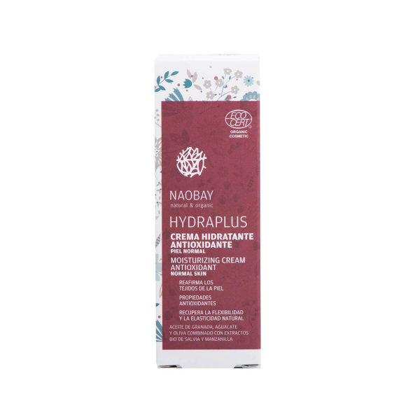 Crema de fata BIO hidratanta si antioxidanta cu extract de salvie pentru ten normal Hydraplus Naobay 50 ml 2