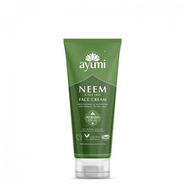 Crema de fata cu Neem & Tea Tree Ayumi 100 ml 0