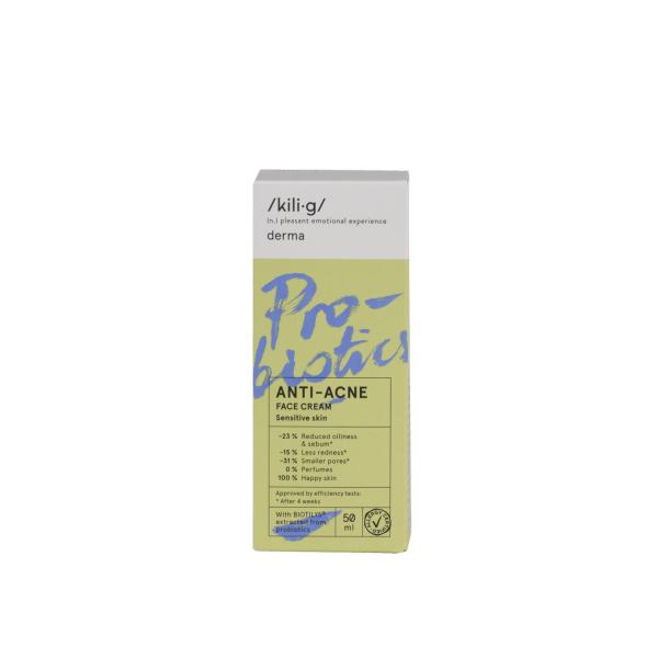 Crema de fata cu probiotice pentru ten sensibil si acneic KILI⋅G DERMA 50 ml 1