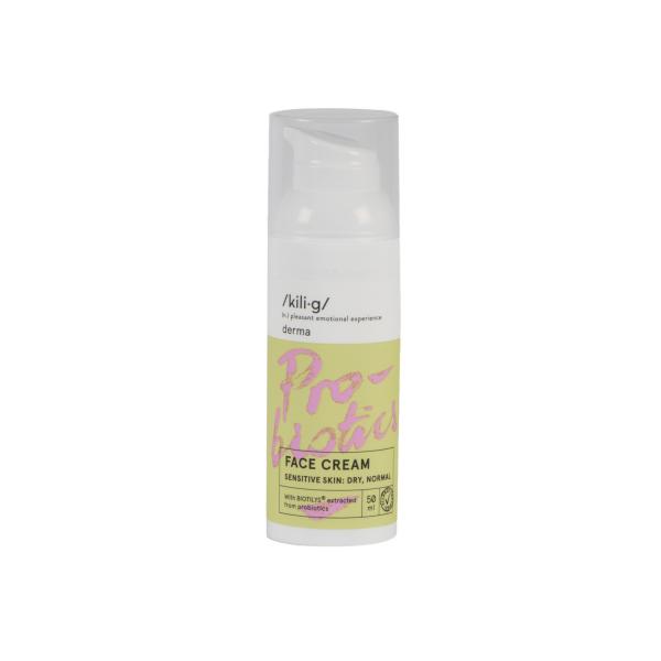 Crema de fata cu probiotice pentru ten sensibil uscat si normal KILIG DERMA 50 ml 2