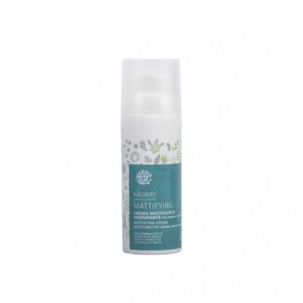 Crema de fata hidratanta BIO matifianta pentru ten gras si predispus la acnee Naobay 50 ml 0