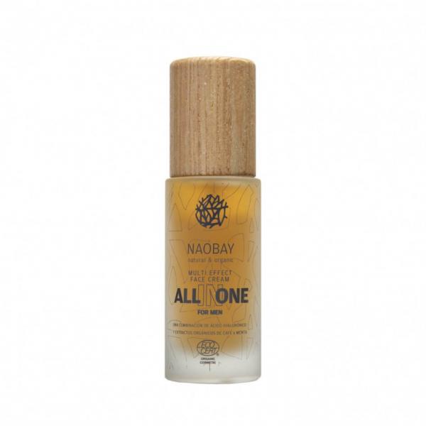 Crema de fata pentru barbati BIO hidratanta si antioxidanta cu acid hialuronic All In One Naobay 50 ml 0