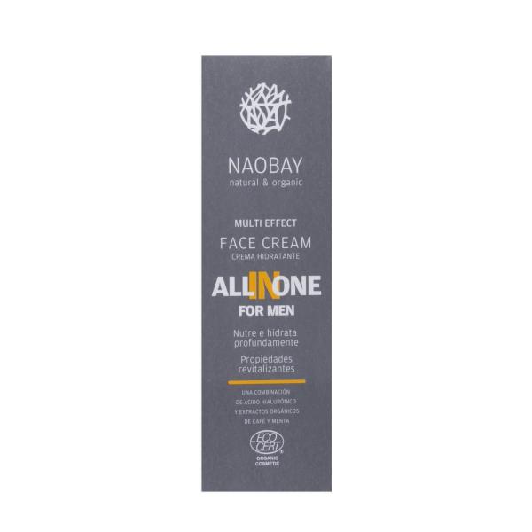 Crema de fata pentru barbati BIO hidratanta si antioxidanta cu acid hialuronic All In One Naobay 50 ml 2