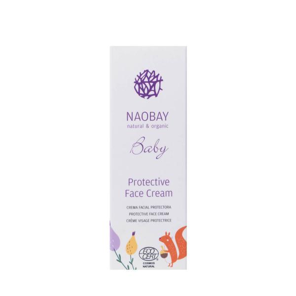 Crema de fata protectoare BIO pentru copii cu extracte organice de galbenele si musetel Naobay 100 ml 2