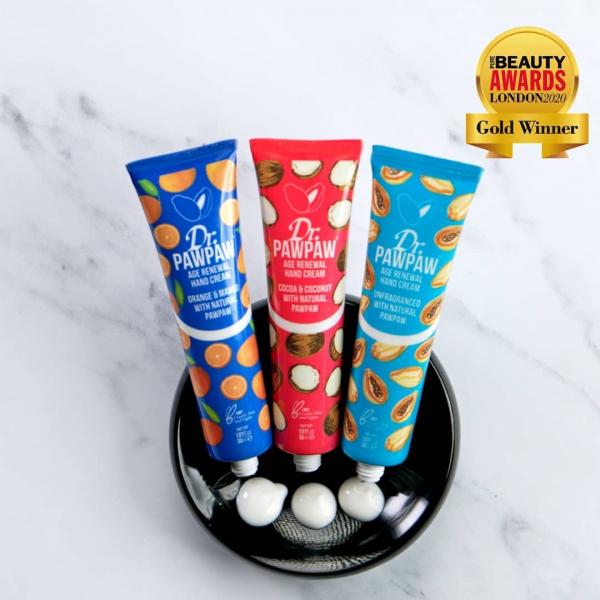 Crema de maini regeneranta fara parfum cu papaya, DrPawPaw, 30 ml 2