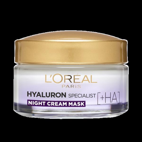 SET 1+1 GRATUIT Crema de noapte antirid hidratanta, L`Oreal Paris Hyaluron Specialist, pentru volumul tenului 2