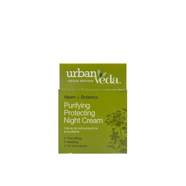 Crema de noapte protectiva cu ulei de neem  pentru ten gras Purifying   Urban Veda 50 ml 2
