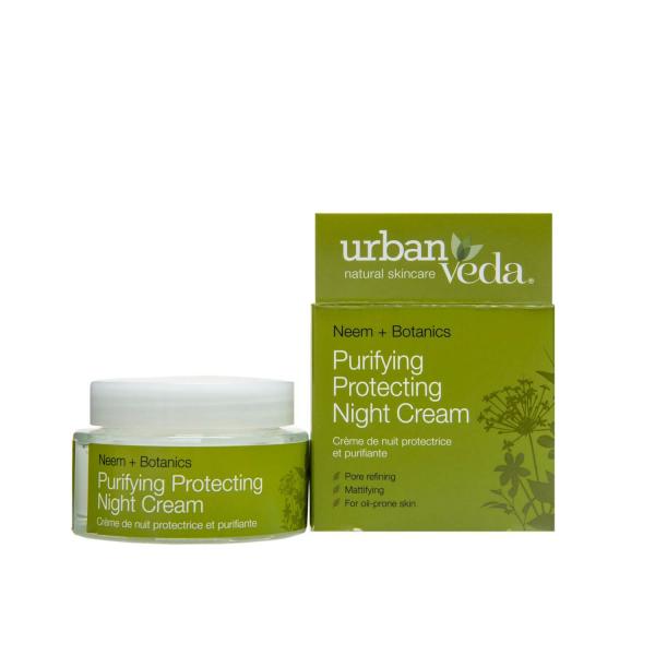 Crema de noapte protectiva cu ulei de neem  pentru ten gras Purifying   Urban Veda 50 ml 0