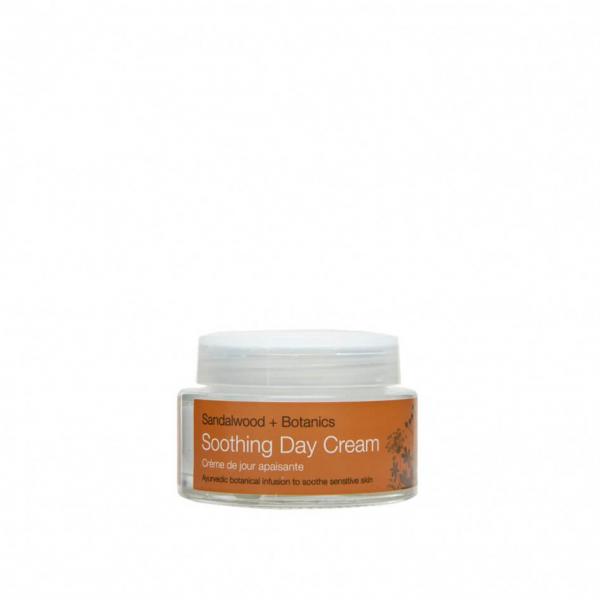 Crema de zi hidratanta cu extract de lemn de santal organic   ten sensibil Soothing   Urban Veda 50 ml 1