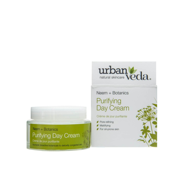 Crema de zi matifianta cu extract de neem organic   ten gras Purifying   Urban Veda 50 ml 0