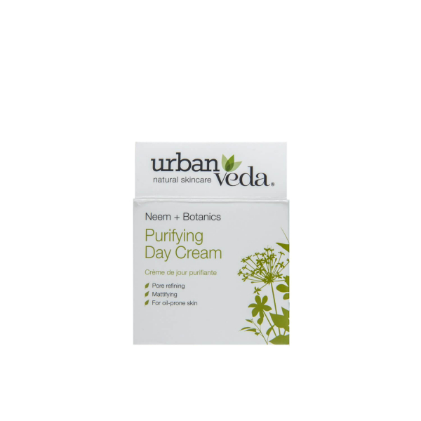 Crema de zi matifianta cu extract de neem organic   ten gras Purifying   Urban Veda 50 ml 2