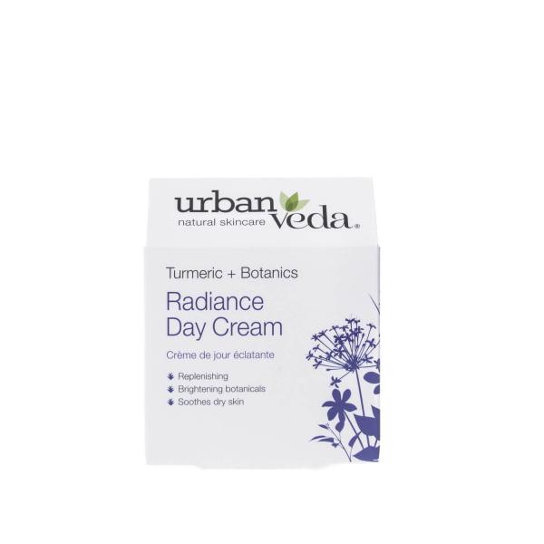 Crema de zi nutritiva cu extract de turmeric organic   ten uscat Radiance   Urban Veda 50 ml 2