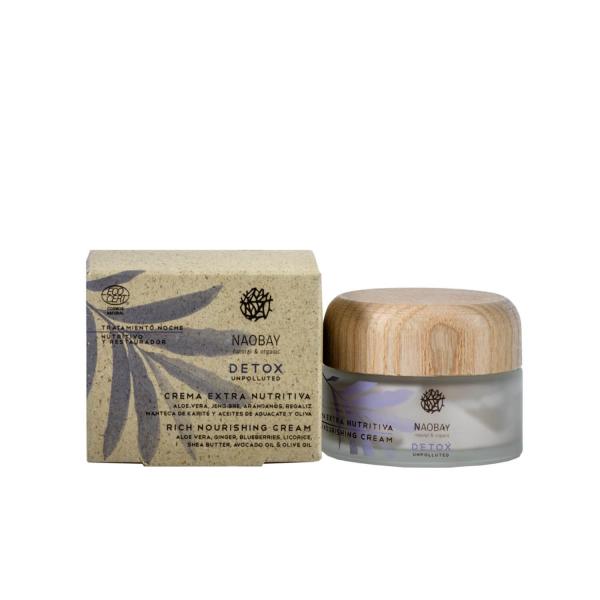 Crema extra nutritiva Detox Naobay 50ml 1