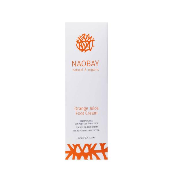 Crema hidratanta BIO pentru picioare cu extracte de unt de Shea si portocale Orange Juice Naobay 100 ml [1]