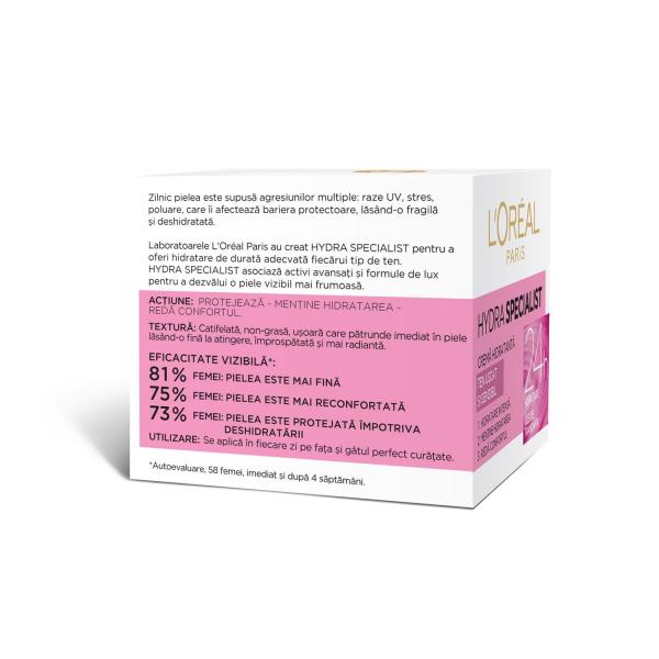 SET 1+1 GRATUIT Crema hidratanta de fata L`Oreal Paris Hydra Specialist, pentru ten uscat si sensibil 3