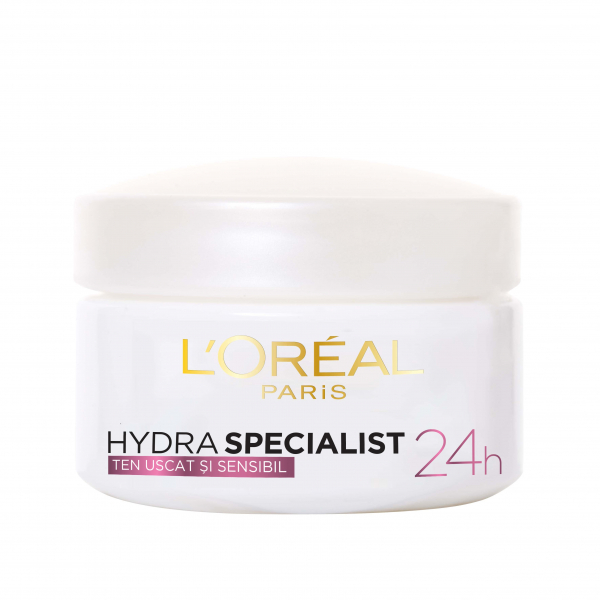 SET 1+1 GRATUIT Crema hidratanta de fata L`Oreal Paris Hydra Specialist, pentru ten uscat si sensibil 1