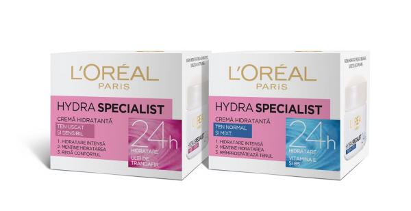 SET 1+1 GRATUIT Crema hidratanta de fata L`Oreal Paris Hydra Specialist, pentru ten uscat si sensibil 5