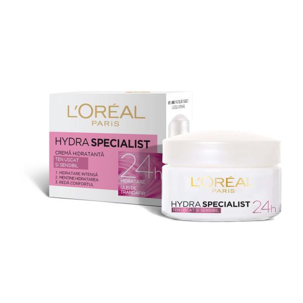 SET 1+1 GRATUIT Crema hidratanta de fata L`Oreal Paris Hydra Specialist, pentru ten uscat si sensibil 2