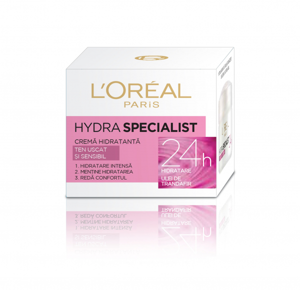 SET 1+1 GRATUIT Crema hidratanta de fata L`Oreal Paris Hydra Specialist, pentru ten uscat si sensibil 0