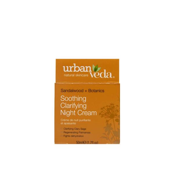 Crema hidratanta de noapte cu extract de lemn de santal organic   ten sensibil Soothing   Urban Veda 50 ml 2