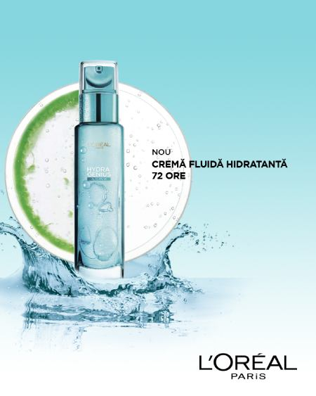 Crema L'Oreal Paris Hydra Genius cu apa de aloe pentru ten normal si mixt, 70 ml 5