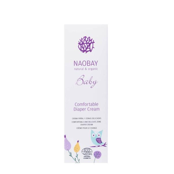 Crema organica emolienta impotriva iritatiei de scutec Naobay 100 ml 2