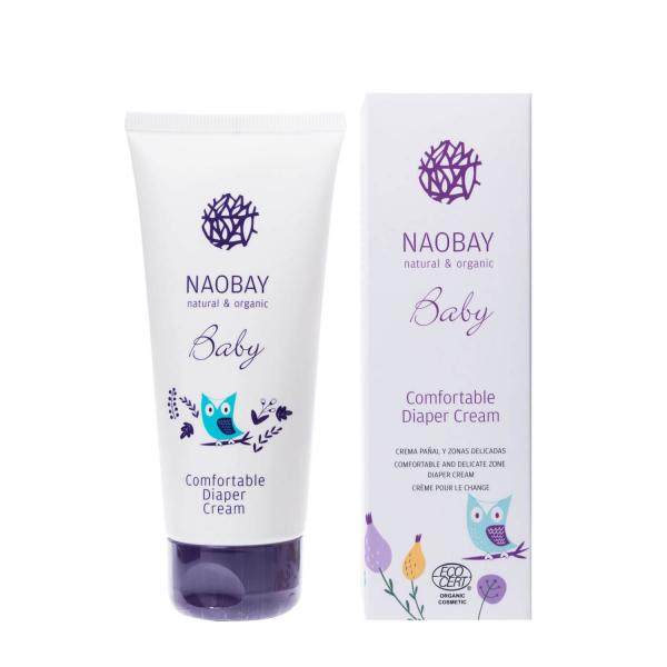 Crema organica emolienta impotriva iritatiei de scutec Naobay 100 ml 1
