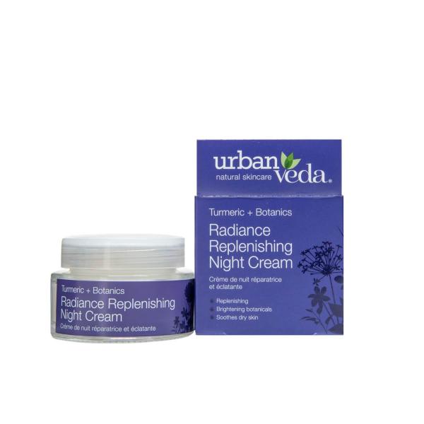 Crema puternic hidratanta de noapte cu extract de turmeric   ten uscat Radiance   Urban Veda 50 ml 1