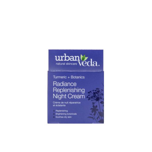 Crema puternic hidratanta de noapte cu extract de turmeric   ten uscat Radiance   Urban Veda 50 ml 2