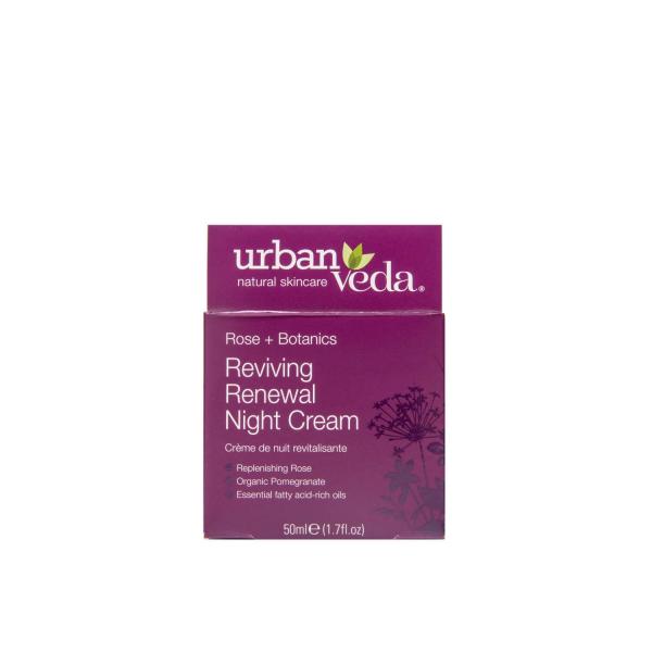 Crema regeneranta de noapte cu ulei organic de trandafir de Damasc   ten matur Reviving   Urban Veda 50 ml 2